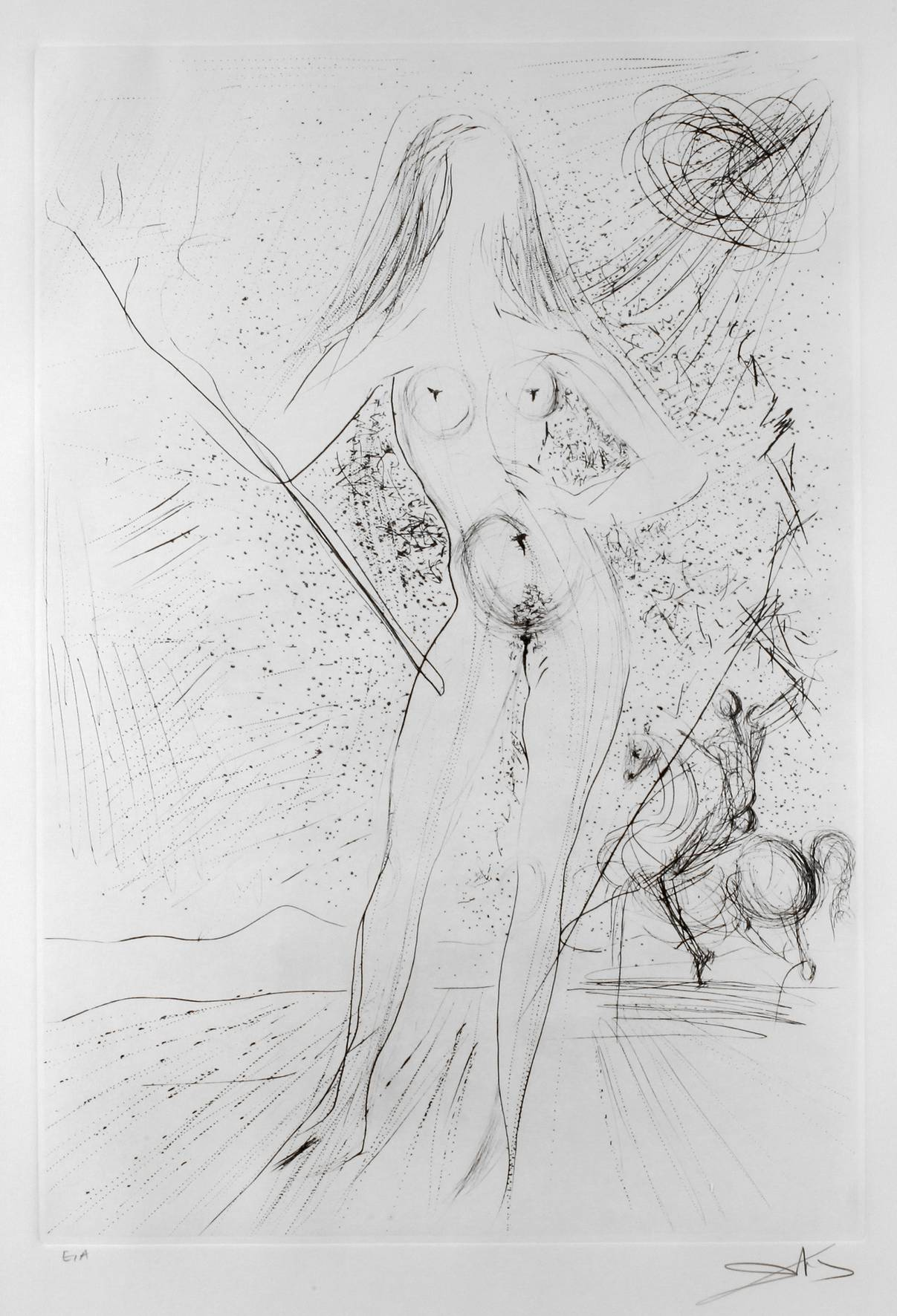 "Salvador Dali, attr., ""Venus de las Constellation with Picador"""