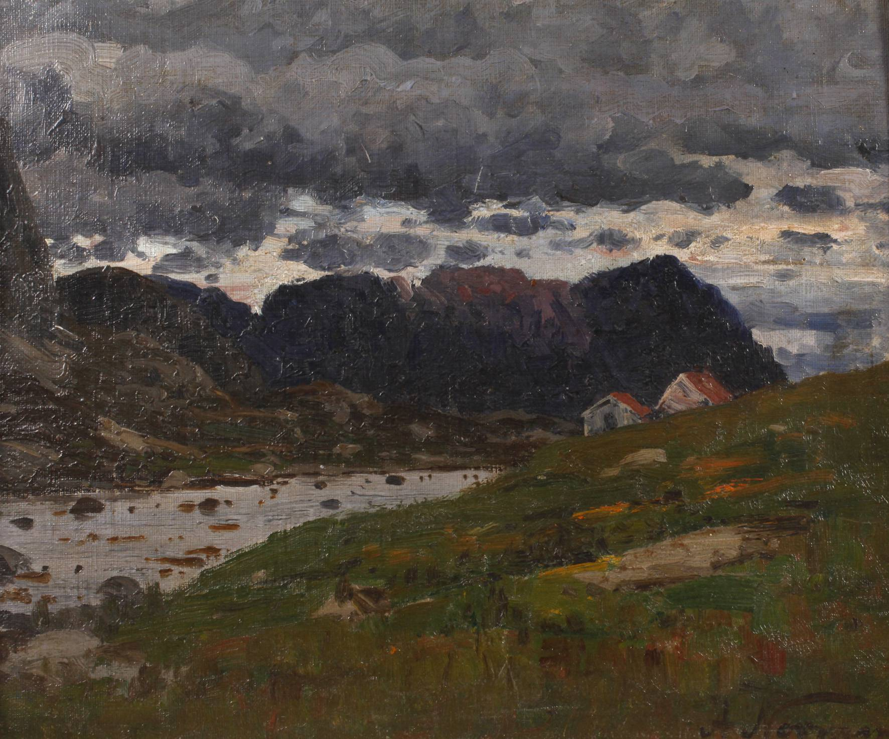 Adelsteen Normann, Abend am Fjord