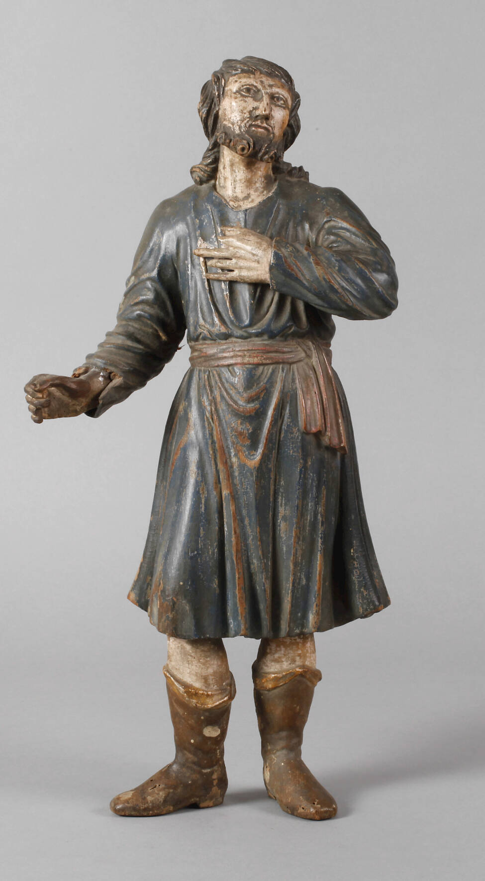 Geschnitzte Heiligenfigur